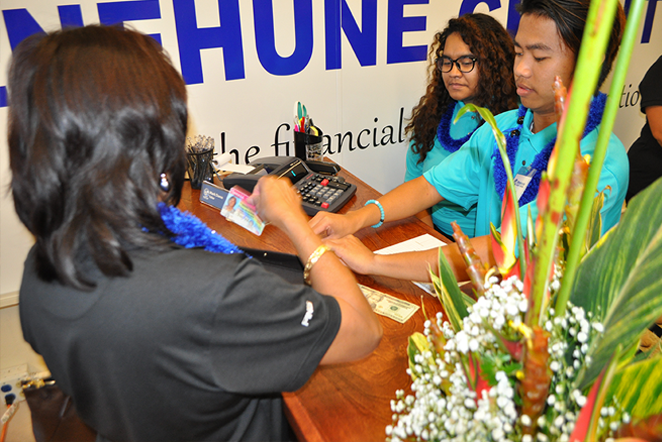 Menehune Credit Union with students
